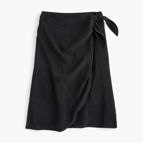 J. Crew Dresses & Skirts - NWT J. Crew Faux Wrap skirt in Japanese Cupro - 6